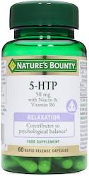 Nature's Bounty 5 HTP 50 mg with Niacin & Vitamin B6 60 Capsules