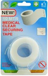 A+E Medical Clear Securing Tape 2.5 cm x 10 m