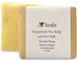 Acala Grapefruit, Sea Kelp and Sea Salt Scrub Soap 100g