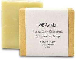Acala Green Clay Geranium And Lavender Soap 100g