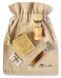 Acala Zero Waste Shaving Bag With Brush