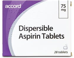 Accord Dispersible Aspirin 75mg 28 Tablets