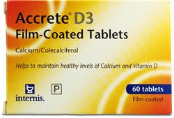 Accrete D3 Film-Coated 60 Tablets