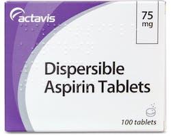 Accord Dispersible Aspirin 75mg 100 Tablets