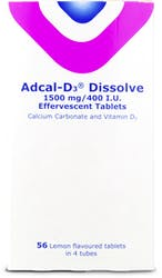 Adcal-D3 Dissolve 1500mg/400 I.U Effervescent Tablets 56 s'
