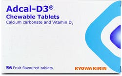 Adcal-D3 Fruit flavoured 56 Chewable Tablets