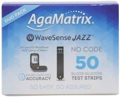 AgaMatrix WaveSense Jazz Blood Glucose Test Strips 50 Pack
