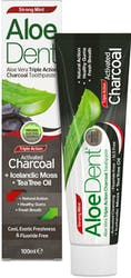 AloeDent Charcoal  Fluoride Free Toothpaste 100ml