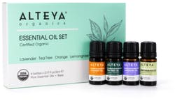 Alteya Pure Gratitude Essential Oils Set - Lavender, Tea Tree, Orange, Lemongrass 4 x 5ml