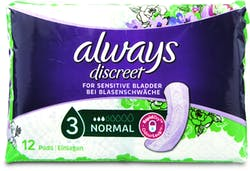 Always Discreet Normal 12 Pads