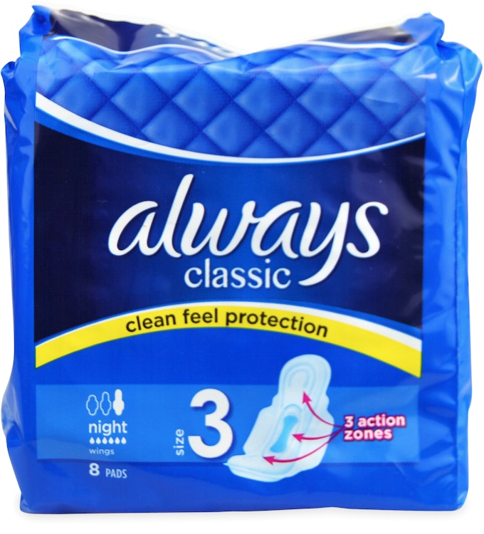 Always Maxi Classic Night Pads 8s