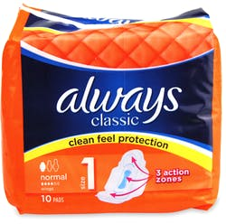 Always Maxi Classic Normal Plus Pads 10s