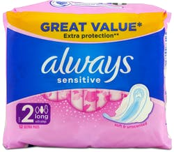 Always Sensitive Long Plus 12 Pack