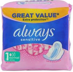 Always Sensitive Normal Plus 14 Pack