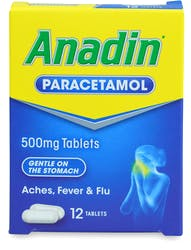 Anadin Paracetamol 500mg 12 Tablets