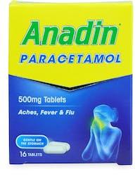 Anadin Paracetamol Tablets 16 Tablets
