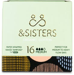 &SISTERS Naked Tampons Medium 16 Pack