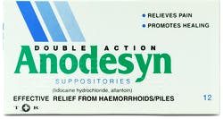 Anodesyn Suppositories 12s