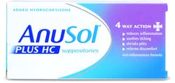Anusol Plus HC Suppositories 12's