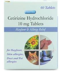 Aspar Cetrizine Hydrochloride 10mg 60 Tablets