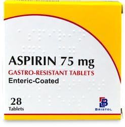 Aspirin 75mg Gastro-Resistant Tablets 28 Tablets