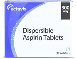 Aspirin 300mg Dispersible Tablets 32 Tablets
