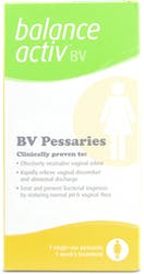 Balance Activ Bacterial Vaginosis Treatment Pessaries 7x25g