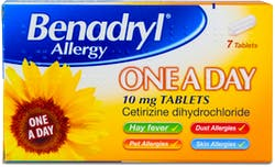 Benadryl 7 One a Day Allergy Tablets 7 Tablets