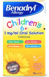 Benadryl Allergy Children's 6+ Liquid 70ml