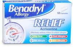 Benadryl Allergy Relief 12 Capsules