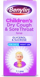 Benylin Children's Dry Cough and Sore Thoat Syrup 1+ Year 125ml