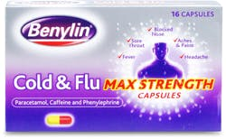 Benylin Cold & Flu Max Strength 16 Capsules