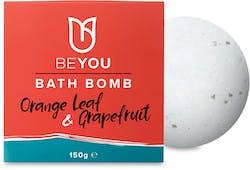 BeYou Bath Bomb Orange Leaf & Grapefruit 150g
