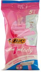Bic 1 Lady Disposable Razor Pack 5Pcs