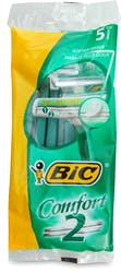 Bic2 Comfort Disposable Razors 5s