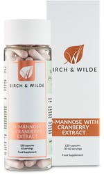 Birch & Wilde D-Mannose 60 Day Supply 120 Capsules