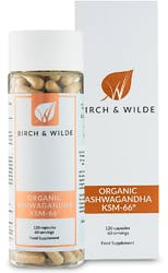 Birch & Wilde Organic Ashwagandha 60 Day Supply 120 Capsules