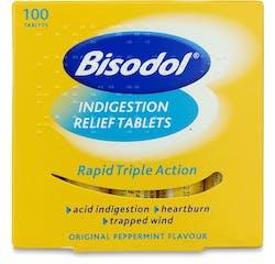 Bisodol Indigestion Relief 100 Tablets