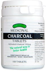 Braggs Medicinal Charcoal 100 Tablets