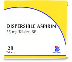 Bristol Dispersible 75mg Aspirin 28 Tablets