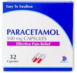 Bristol Paracetamol 500mg 32 Capsules