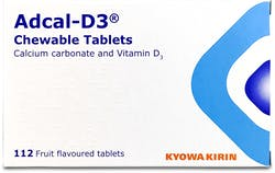 Calcium Carbonate and Vitamin D3 Fruit Flavoured Tablets