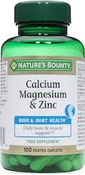 Nature's Bounty Calcium Magnesium & Zinc 100 Caplets