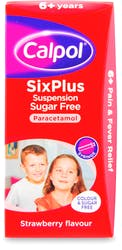 Calpol 6+ Sugar Free Suspension Strawberry 80 ml