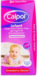 Calpol Infant Suspension Colour & Sugar Free 100ml