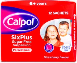 Calpol Six Plus Paracetamol Sachets 12 Sachets