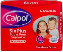 Calpol SixPlus Paracetamol Sachets 12 Sachets