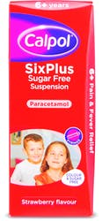 Calpol SixPlus Sugar Free Strawberry Flavour Suspension 200ml