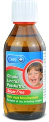Care Simple Linctus Paediatric Sugar Free 200ml