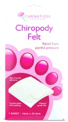 Carnation Chiropody Felt 1 sheet